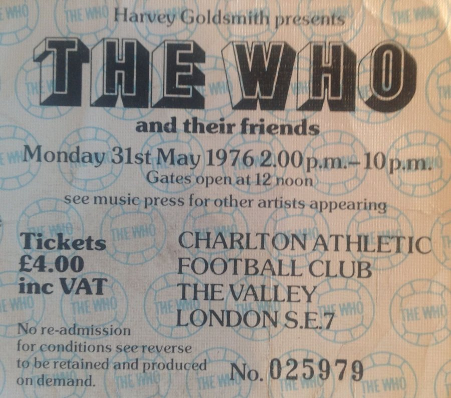 The Who Charlton Athletic 1976