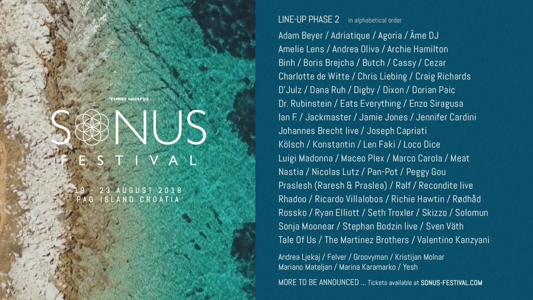 2018 Sonus Festival Line Up Phase2